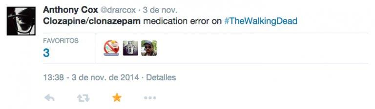 ¿Error de Medicación en #TheWalkingDead ? cloZAPine-clonazePAM