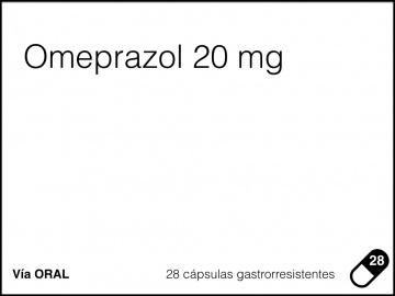 Cara frontal propuesta omeprazol 20 mg 28 cápsulas