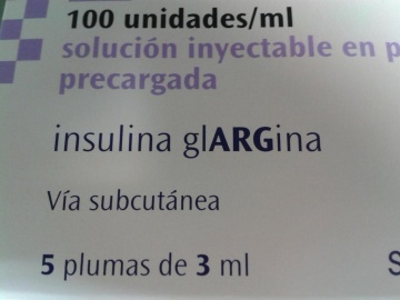 Ejemplo de Tall Man Lettering en el etiquetado de fármacos comercializados