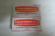 Cetirizina 10 mg comps. & Bisoprolol 2,5 mg comps. [Lab. Normon]