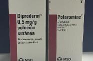 DIproderm (Betametasona tópica) vs. Polararamine (Dexclorfeniramina oral)