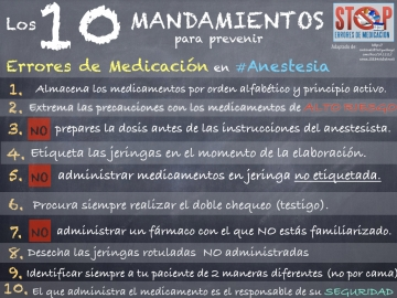 10 Mandamientos #anestesia